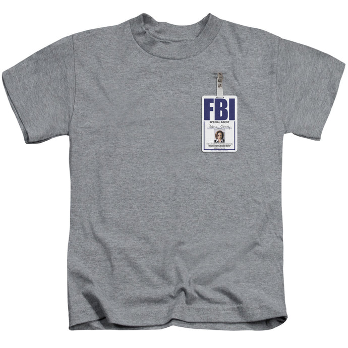 X Files - Scully Badge Short Sleeve Juvenile 18/1 Tee - Special Holiday Gift