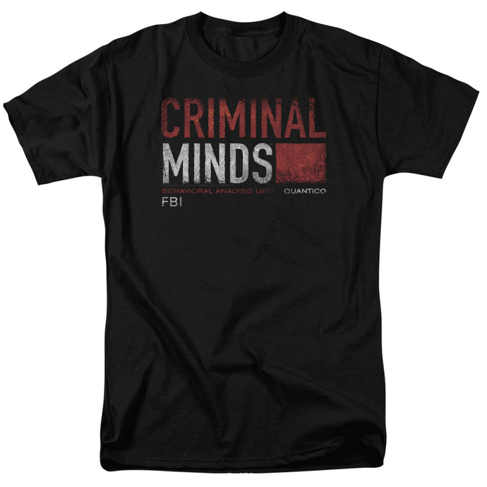 Criminal Minds - Title Card Short Sleeve Adult 18/1 Tee - Special Holiday Gift