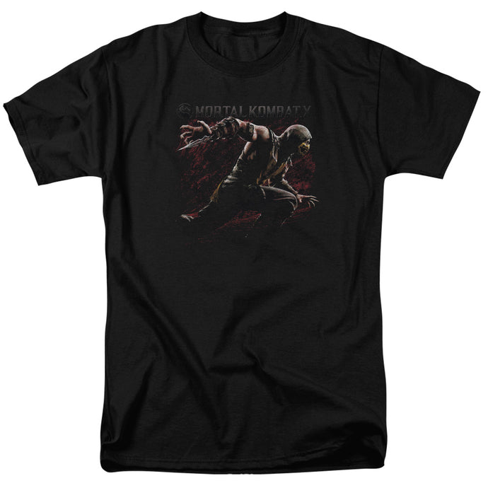 Mortal Kombat X - Scorpion Lunge Short Sleeve Adult 18/1 Tee - Special Holiday Gift
