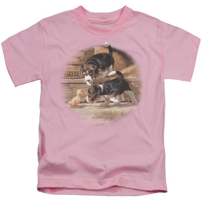 Wildlife - Getting Acquainted Short Sleeve Juvenile 18/1 Tee - Special Holiday Gift