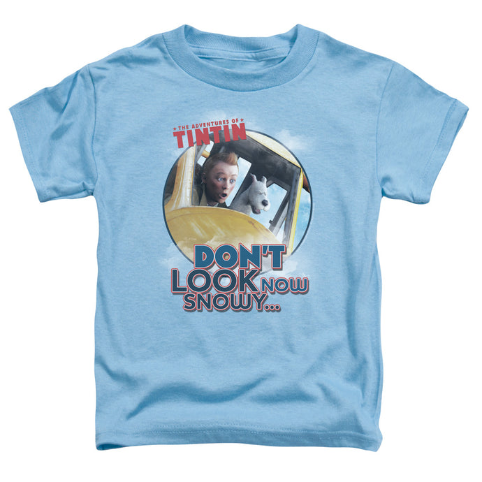 Tintin - Don't Look Now Short Sleeve Toddler Tee - Special Holiday Gift