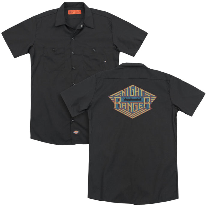 Night Ranger - Logo(Back Print) Adult Work Shirt - Special Holiday Gift