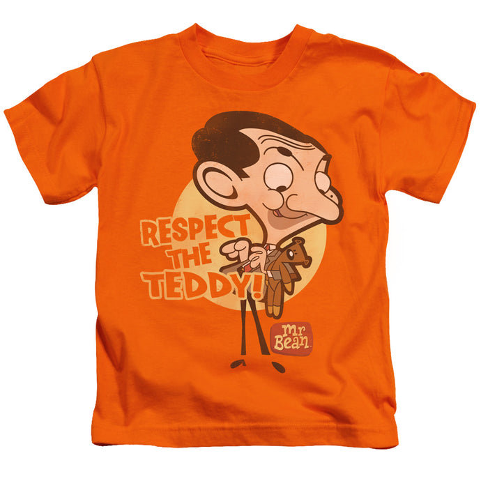Mr Bean - Respect The Teddy Short Sleeve Juvenile 18/1 Tee - Special Holiday Gift