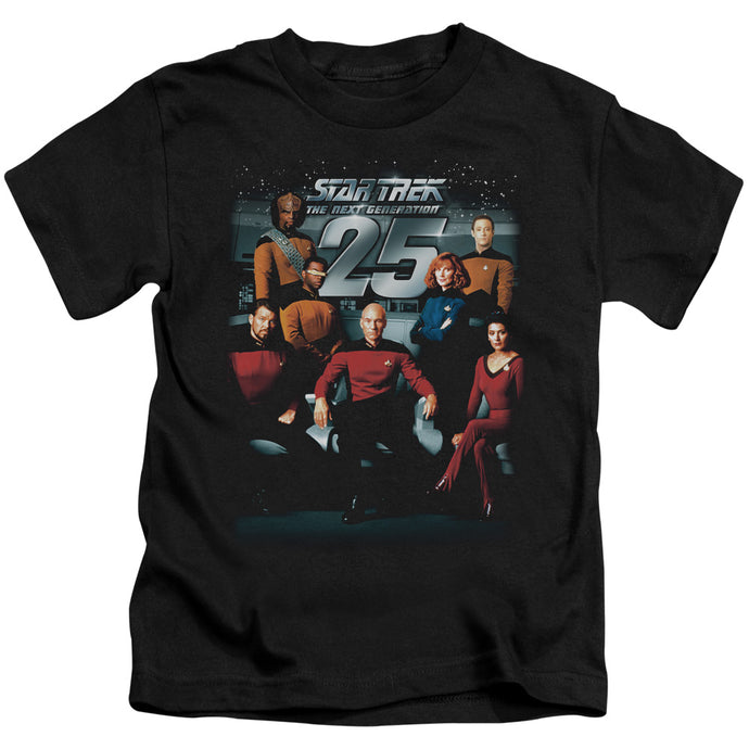 Star Trek - 25 Th Anniversary Crew Short Sleeve Juvenile 18/1 Tee - Special Holiday Gift