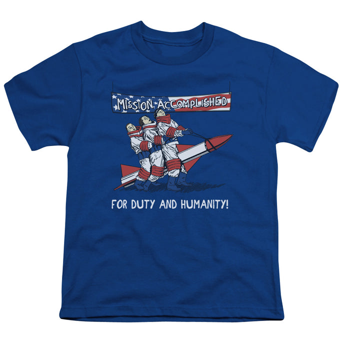 Three Stooges - Mission Accomplished Short Sleeve Youth 18/1 Tee - Special Holiday Gift
