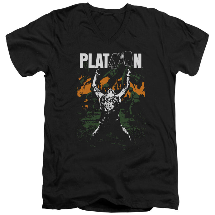 Platoon - Graphic Short Sleeve Adult V Neck Tee - Special Holiday Gift