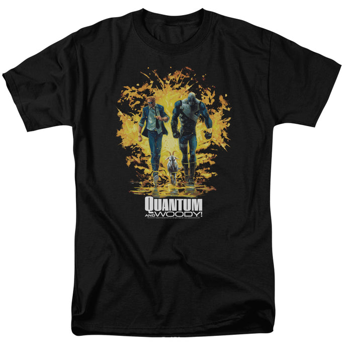 Quantum And Woody - Explosion Short Sleeve Adult 18/1 Tee - Special Holiday Gift