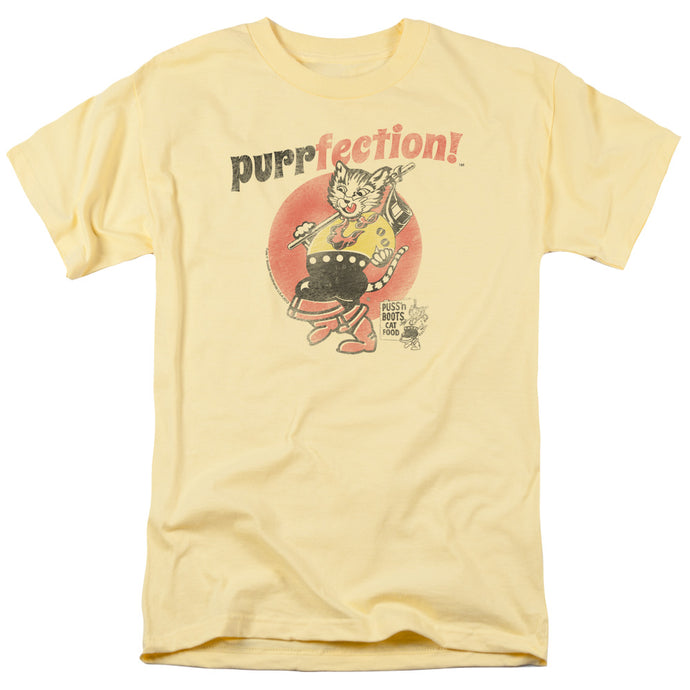 Puss N Boots - Purrfection Short Sleeve Adult 18/1 Tee - Special Holiday Gift
