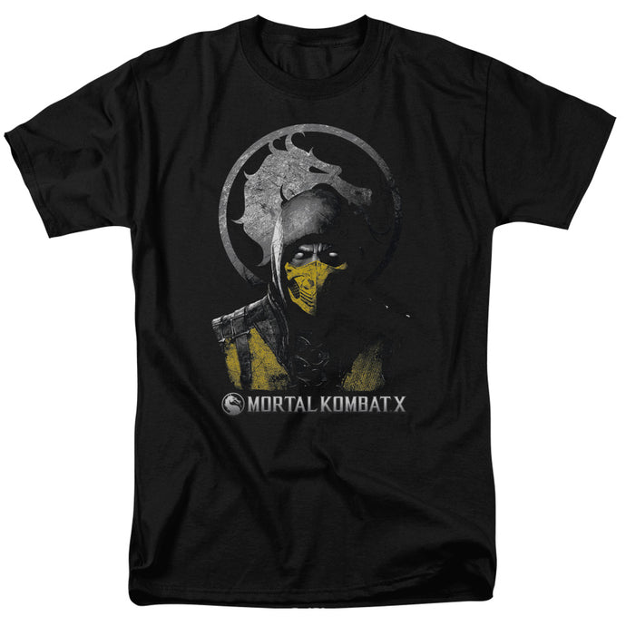 Mortal Kombat X - Scorpion Bust Short Sleeve Adult 18/1 Tee - Special Holiday Gift