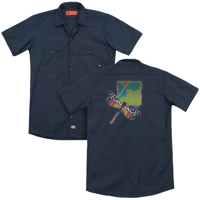 Yes - Dragonfly(Back Print) Adult Work Shirt - Special Holiday Gift