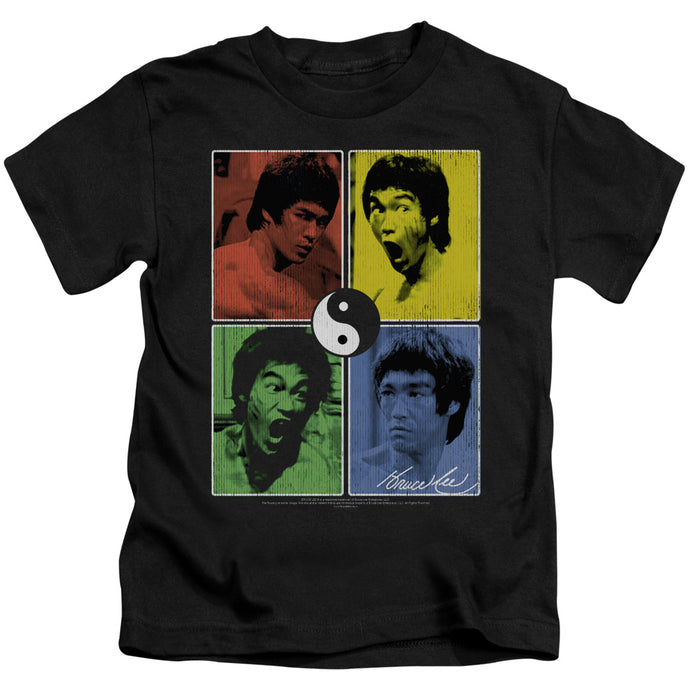 Bruce Lee - Enter Color Block Short Sleeve Juvenile 18/1 Tee - Special Holiday Gift