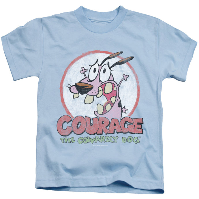 Courage The Cowardly Dog - Vintage Courage Short Sleeve Juvenile 18/1 Tee - Special Holiday Gift