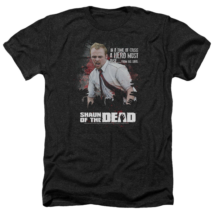 Shaun Of The Dead - Hero Must Rise Adult Heather - Special Holiday Gift