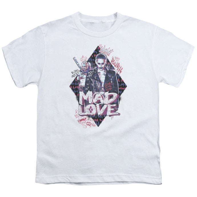Suicide Squad - Mad Love Short Sleeve Youth 18/1 Tee - Special Holiday Gift