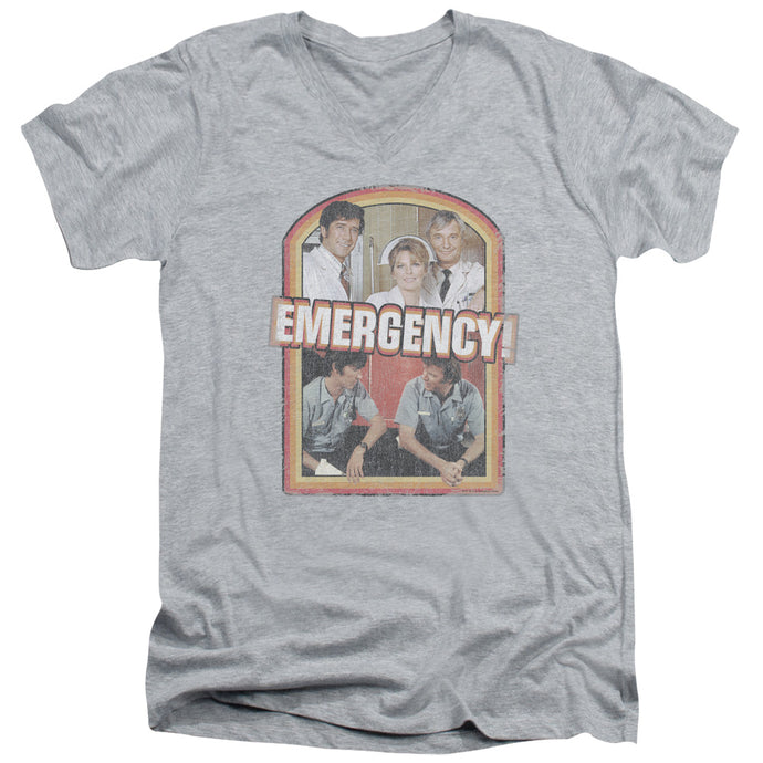 Emergency - Retro Cast Short Sleeve Adult V Neck Tee - Special Holiday Gift