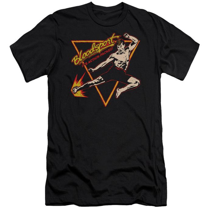 Bloodsport - Action Packed Short Sleeve Adult 30/1 Tee - Special Holiday Gift