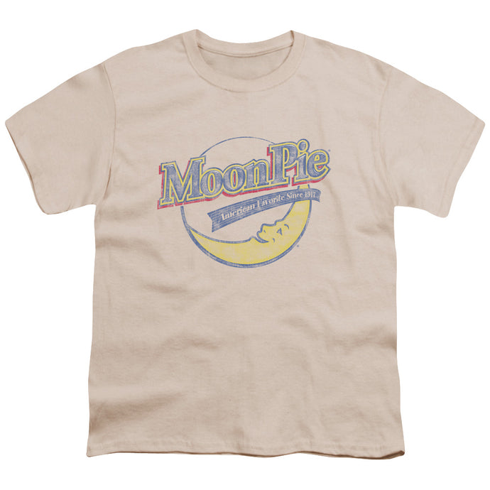 Moon Pie - Distressed Retro Logo Short Sleeve Youth 18/1 Tee - Special Holiday Gift