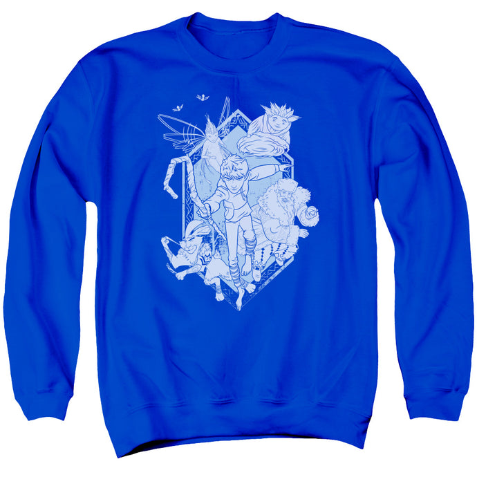 Rise Of The Guardians - Coming For You Adult Crewneck Sweatshirt - Special Holiday Gift