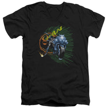 Batman - Batcycle Short Sleeve Adult V Neck Tee - Special Holiday Gift