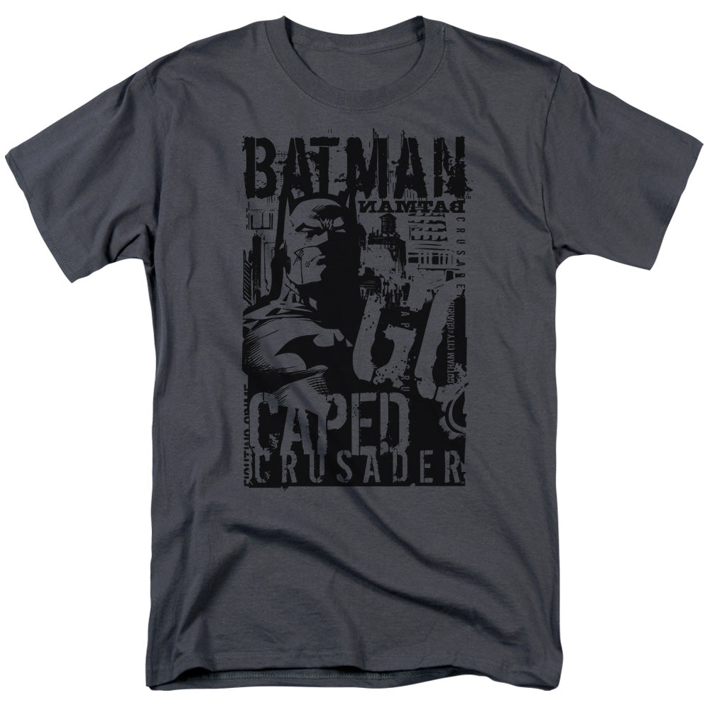 Batman - Caped Crusader Short Sleeve Adult 18/1 Tee - Special Holiday Gift