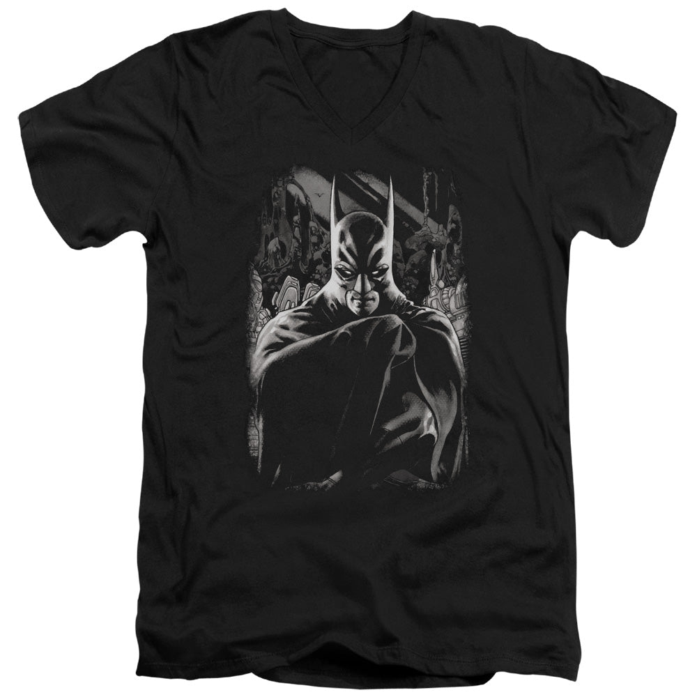 Batman - Detective 821 Cover Short Sleeve Adult V Neck Tee - Special Holiday Gift