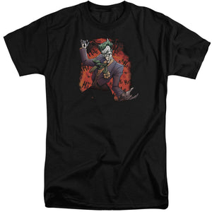 Batman - Joker's Ave Short Sleeve Adult Tall Tee - Special Holiday Gift
