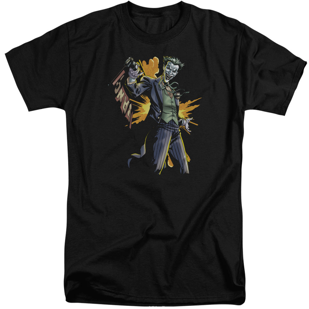 Batman - Joker Bang Short Sleeve Adult Tall Tee - Special Holiday Gift