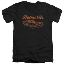 Batman - Batmobile Short Sleeve Adult V Neck Tee - Special Holiday Gift