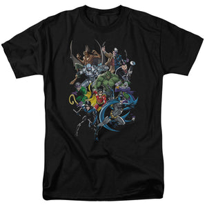 Batman - Saints And Psychos Short Sleeve Adult 18/1 Tee - Special Holiday Gift