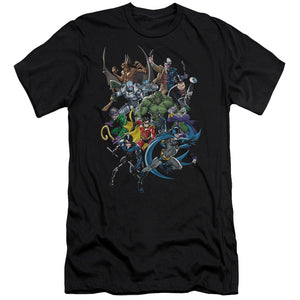 Batman - Saints And Psychos Short Sleeve Adult 30/1 Tee - Special Holiday Gift