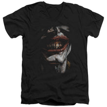 Batman - Smile Of Evil Short Sleeve Adult V Neck Tee - Special Holiday Gift