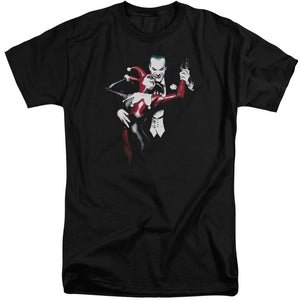 Batman - Harley And Joker Short Sleeve Adult Tall Tee - Special Holiday Gift