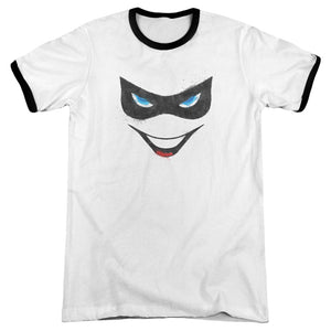 Batman - Harley Face Adult Ringer - Special Holiday Gift