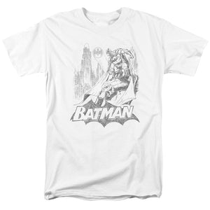 Batman - Bat Sketch Short Sleeve Adult 18/1 Tee - Special Holiday Gift