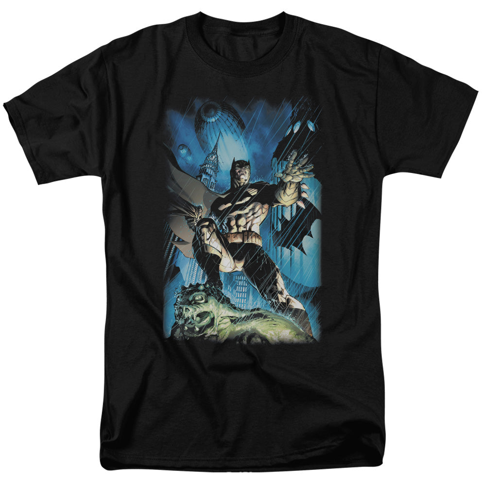 Batman - Stormy Dark Knight Short Sleeve Adult 18/1 Tee - Special Holiday Gift