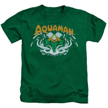 Dc - Aquaman Splash Short Sleeve Juvenile 18/1 Tee - Special Holiday Gift