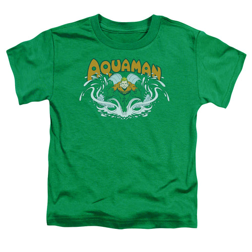 Dc - Aquaman Splash Short Sleeve Toddler Tee - Special Holiday Gift