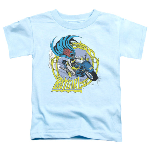 Dc - Batgirl Motorcycle Short Sleeve Toddler Tee - Special Holiday Gift