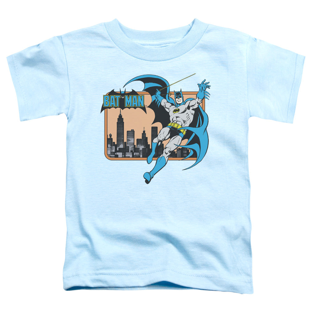 Dc - Batman In The City Short Sleeve Toddler Tee - Special Holiday Gift