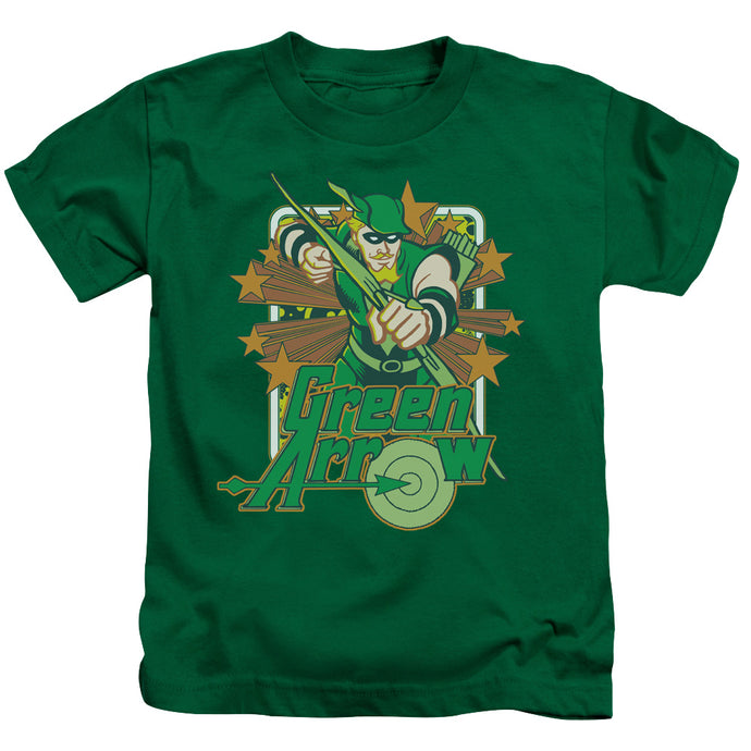 Dc - Green Arrow Stars Short Sleeve Juvenile 18/1 Tee - Special Holiday Gift
