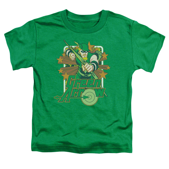 Dc - Green Arrow Stars Short Sleeve Toddler Tee - Special Holiday Gift