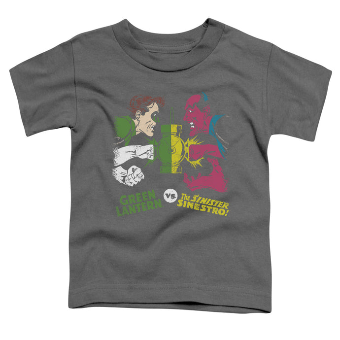 Dc - Green Lantern Vs Sinestro Short Sleeve Toddler Tee - Special Holiday Gift