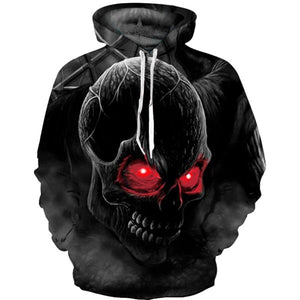 Skeleton Skull Print Mens Hoodies 3D Sweatshirts for Menclothes 2018 Cool Hip Hop Men's Sportswear Thin Man Jacket