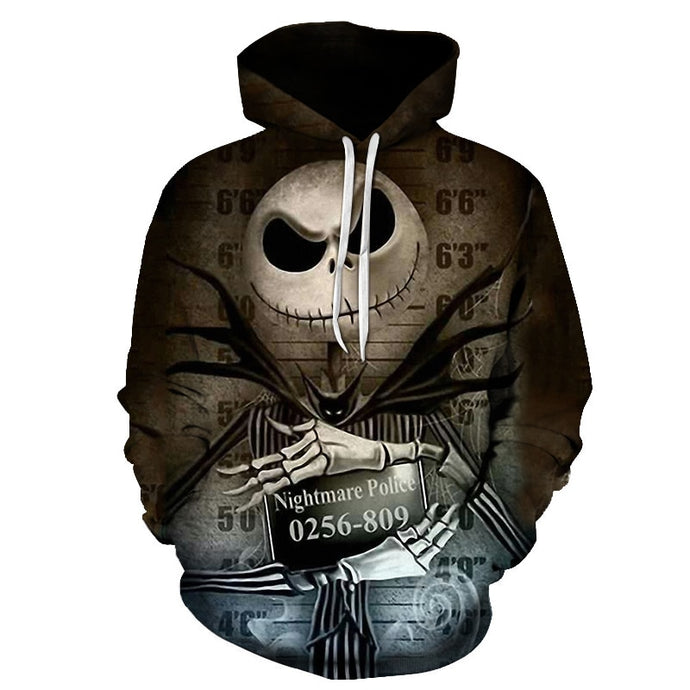 Hoodies sweatshirts the nightmare before christmas jack Sally 3D print Hoodie harajuku Hooded Coat hip hop