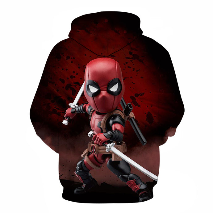 Marvel Deadpool Sweatshirt Fashion Funny Men Women Long Sleeve Streetwear Hoodie DC Comics 3D Print Hoodies Men Hip Hop
