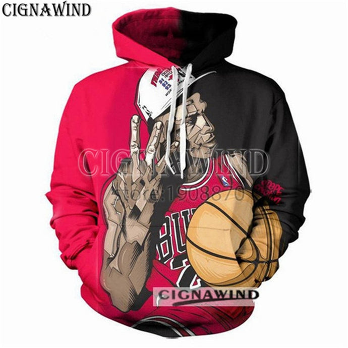3D print hoodies  Dynasty of Bulls Triple Crown Jordan sweatshirt hip hop streetwear