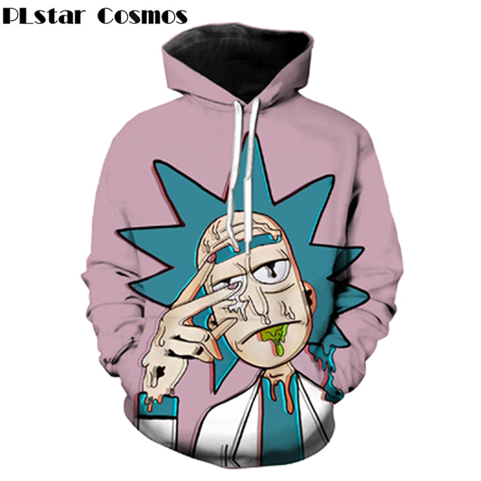 Classic cartoon Rick and Morty 3d Hoodies Funny Crazy Scientist Rick Print Men Women Streetwear hoody Sweatshirt