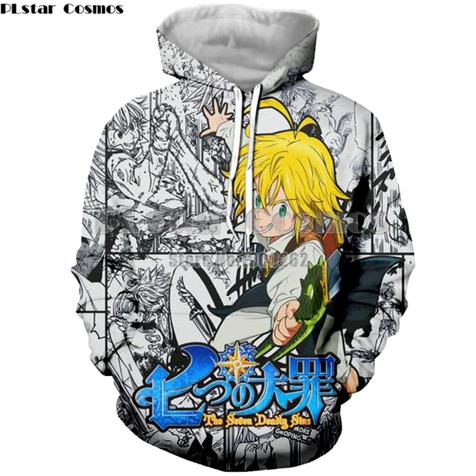 Anime Nanatsu No Taizai The Seven Deadly Sins Dragon 3D Print /Hoodie/Sweatshirt