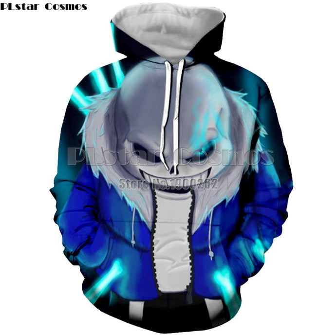 game undertale sans 3D hoodies  pullover Hoodies  Men's/women 3d Print Sweatshirt