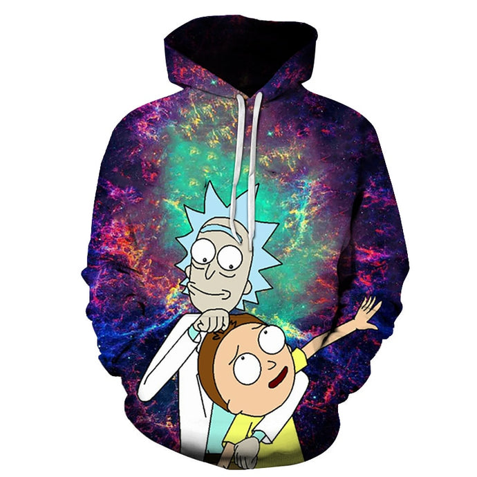 Rick and Morty 3D Sweatshirts Hoodies Printed Hoodies Tracksuits Funny Cartoon Streetwear